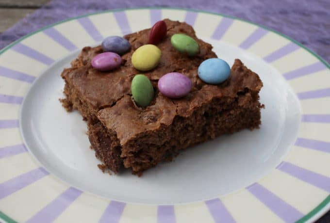 brownie nutella smarties