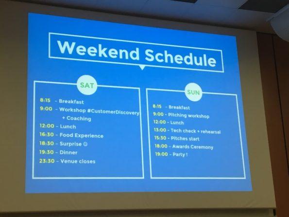 planning startup weekend