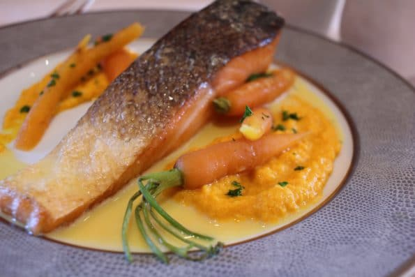 dos de saumon carottes beurre à l'orange