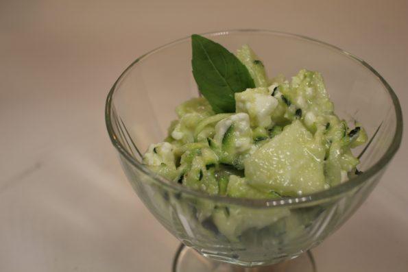 salade croquante feta basilic
