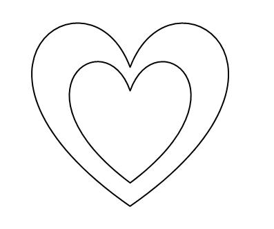 Coeur en p te d 39 amande - Modele de coeur a decouper ...