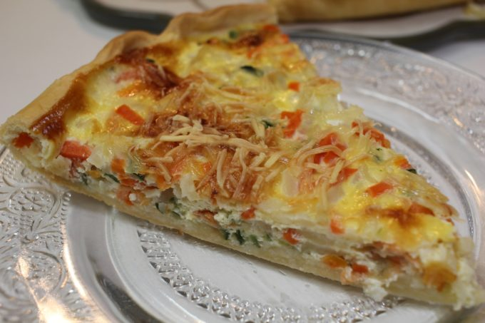 quiche julienne saumon