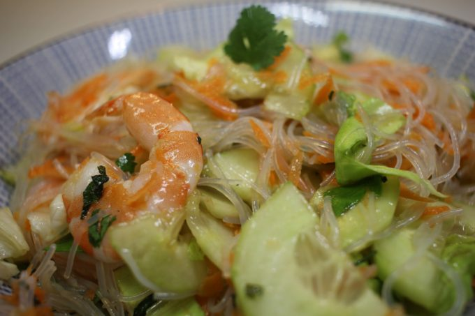 salade chinoise crevette