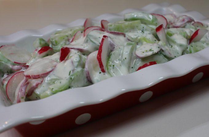 salade concombre radis