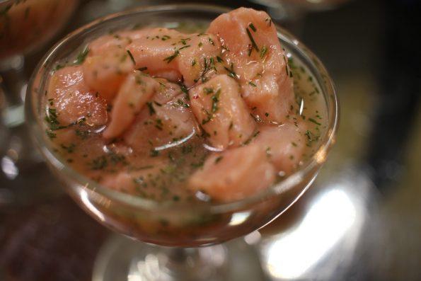 tartare saumon orange sanguine