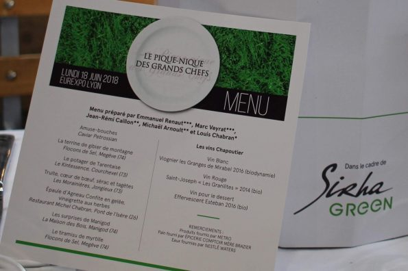menu pique nique des grands chefs SIRHA Green