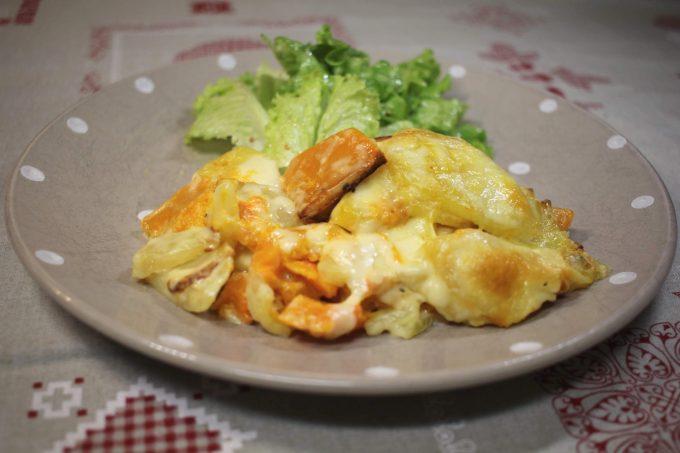 gratin pommes de terre et butternut raclette