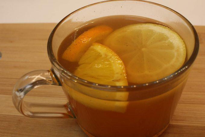 cidre chaud à l'orange