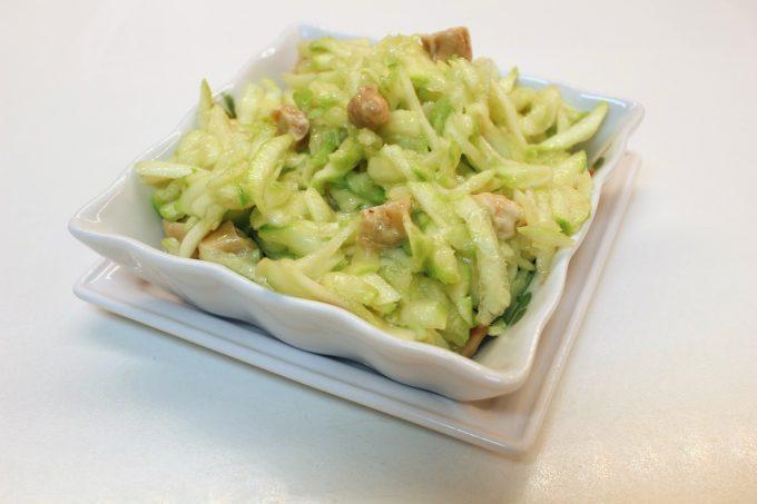 salade de courgettes et noix de cajou