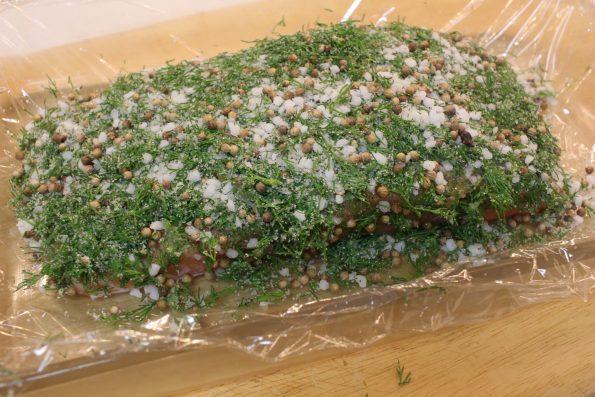 saumon gravlax étape 2