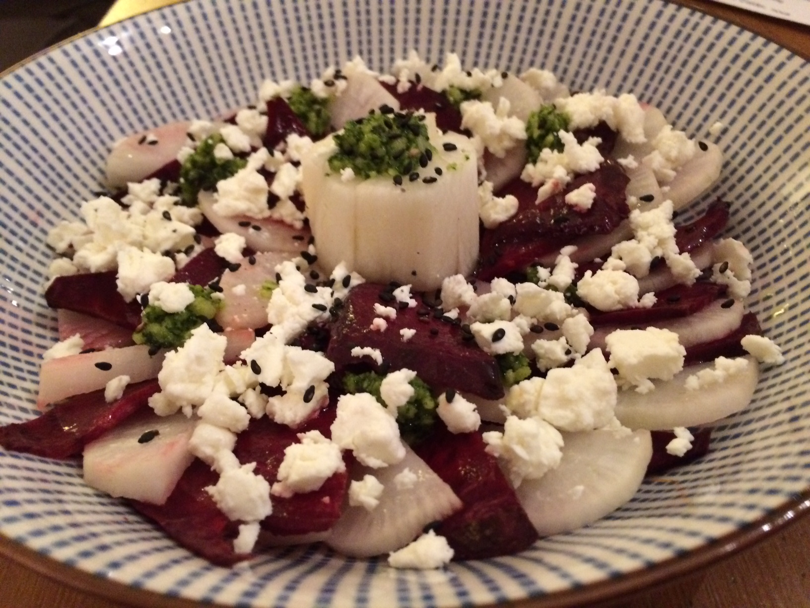 carpaccio betterave radis feta