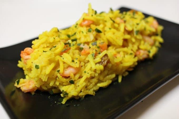 riz curry crevettes