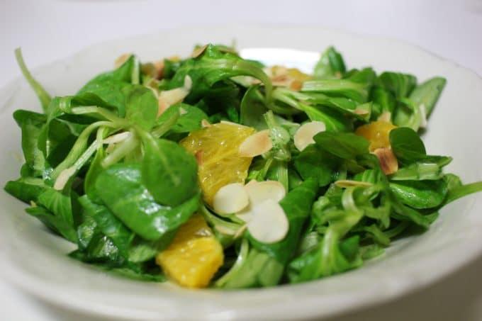 salade mache mangue orange
