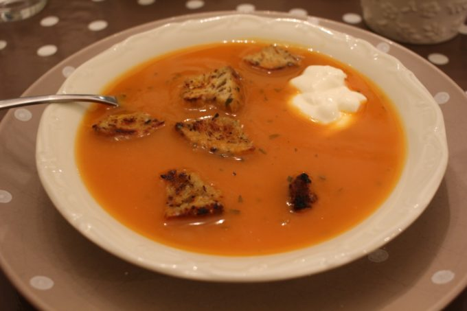 soupe de courge estragon