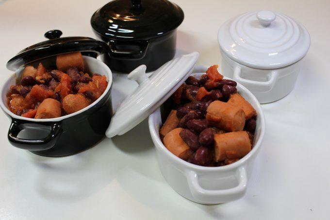 haricots rouges et saucisses
