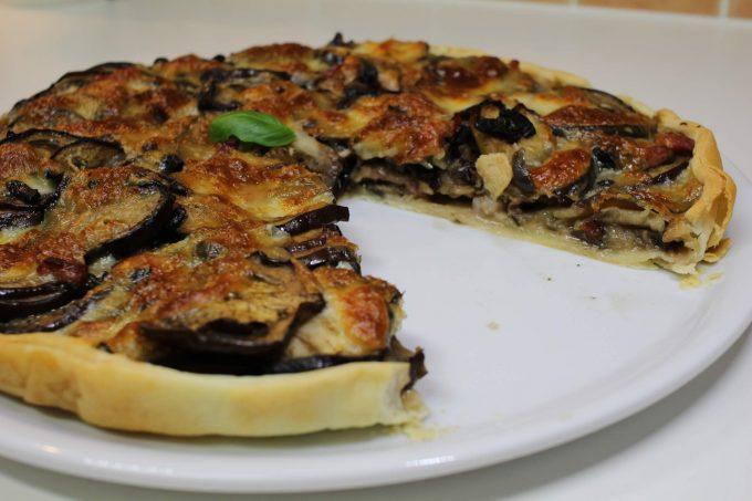 tarte à l'aubergine