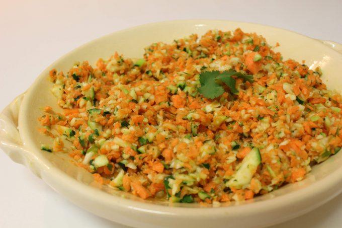 salade de courgettes et carottes à la coriandre