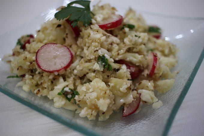 salade de chou-fleur et radis