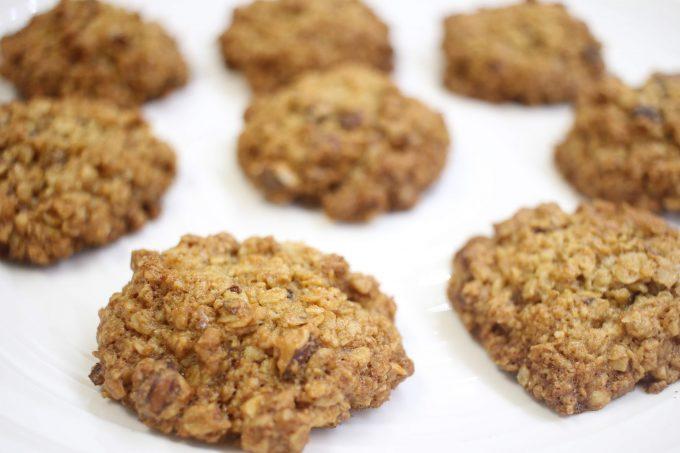 biscuits aux flocons d'avoine et noisettes