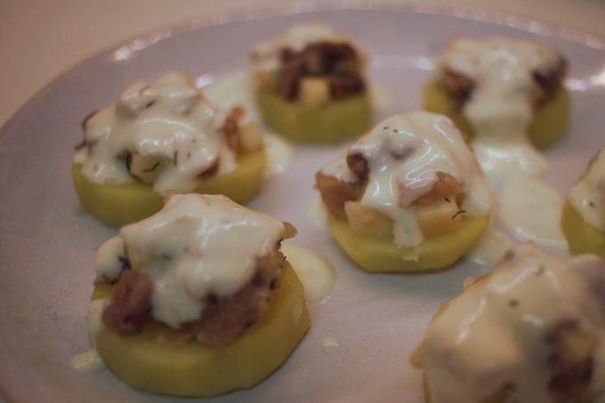 pommes de terre au hareng fumé et pommes