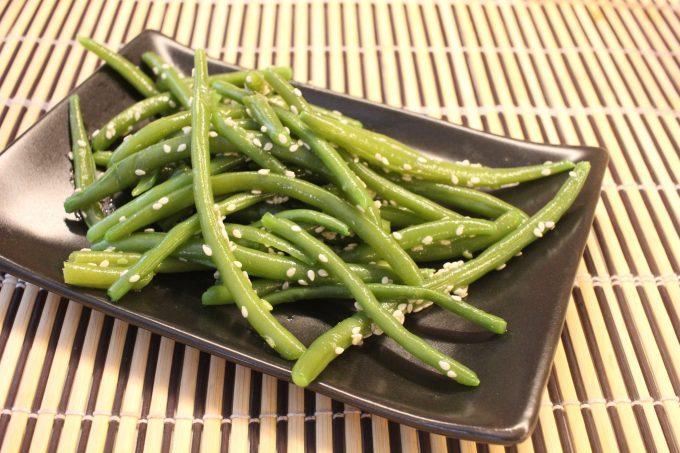 salade de haricots verts au sésame