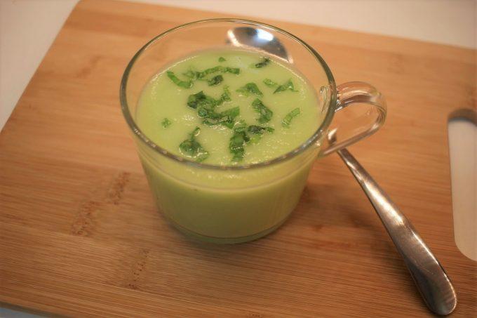 soupe de concombre et pomme