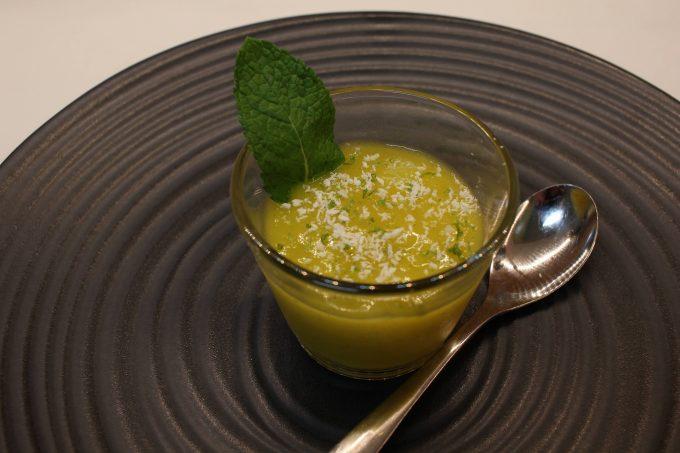 soupe de mangue au citron vert